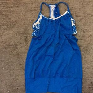 Blue floral Lulu Lemon Workout top